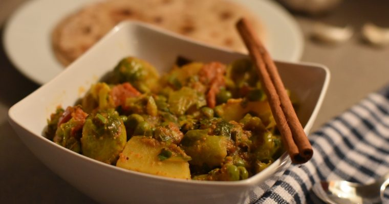 Indian style Brussels Sprouts Curry / Baby cabbage curry