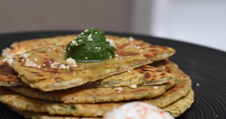 Avocado Paneer Paratha / Indian style Avocado Cottage Cheese Quesadilla